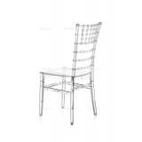 Svadobná stolička CHIAVARI TIFFANY transparentné