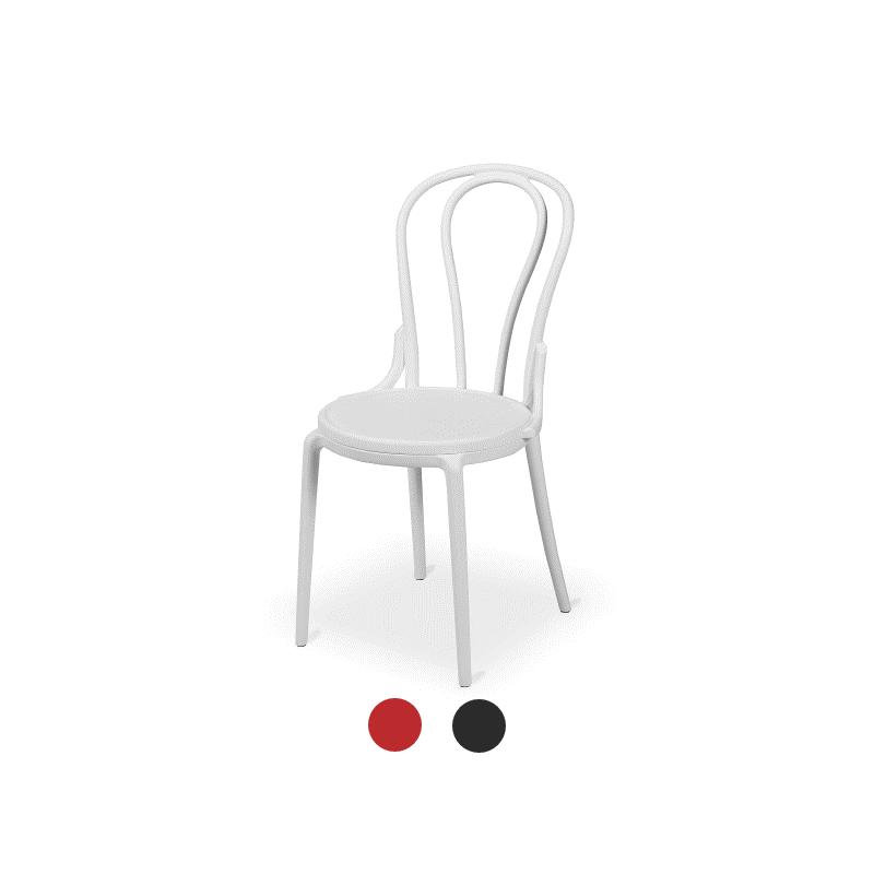 Stolička Bistro MONET biely