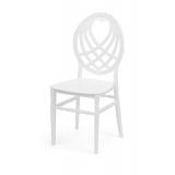 Svadobná stolička CHIAVARI KING biela