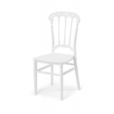 Svadobná stolička CHIAVARI QUEEN biela