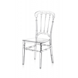 Svadobná stolička CHIAVARI QUEEN TRANSPARENTNÉ