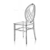 Svadobná stolička CHIAVARI KING TRANSPARENTNÉ