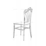 Svadobná stolička CHIAVARI LORD TRANSPARENTNÉ