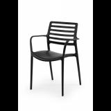Stoličku do pivných záhrad LUCA čierna
