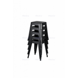 Stolička PARIS inšpirované TOLIX s dreveným sedadlom