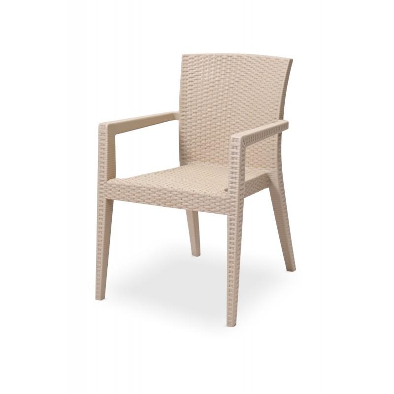 Stoličku do pivných záhrad MARIO cappuccino