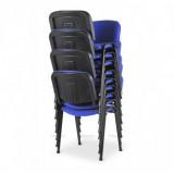 Konferenčná stolička ISO 24HBL-T modrý