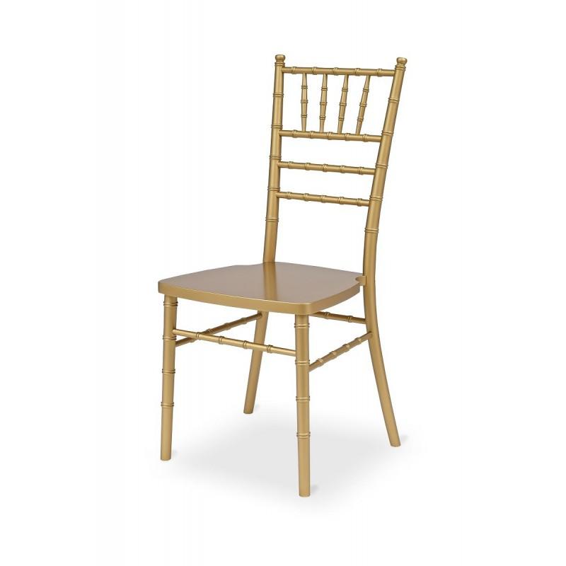 Svadobné stoličky CHIAVARI TIFFANY WOOD zlato