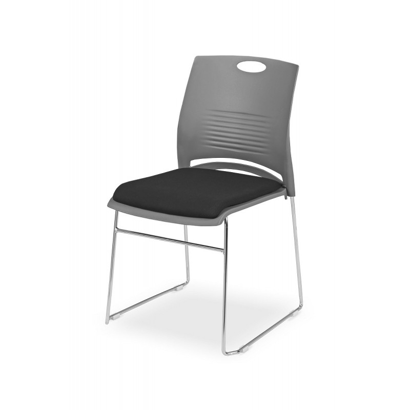Konferenční židle WEST s čalúneným sedákom
