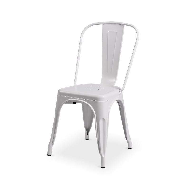 Barová židle PARIS inspirovaná TOLIX biela matná